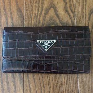 Prada wallet with checkbook holder
